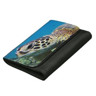 Hawaii Green Sea Turtle Wallet For Women