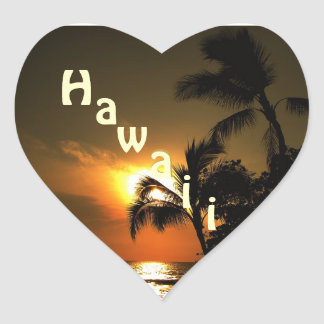 Hawaii Heart Heart Sticker
