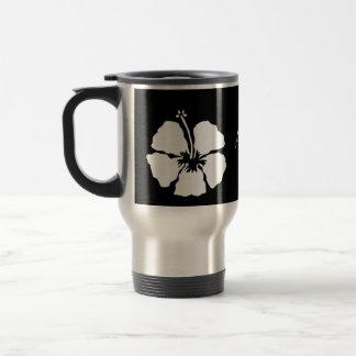 Hawaii hibiscus aloha flower travel mug