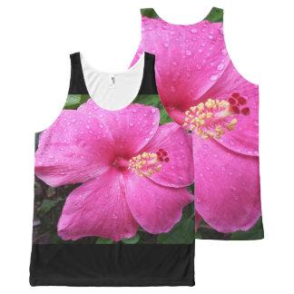 Hawaii Hibiscus Flower All-Over Print Singlet