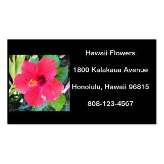 Hawaii Hibiscus Flower Double-Sided Standard Business Cards (Pack Of 100)