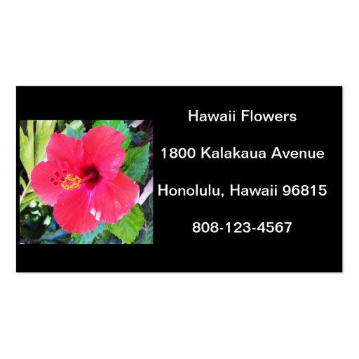 Hawaii Hibiscus Flower Business Card Templates