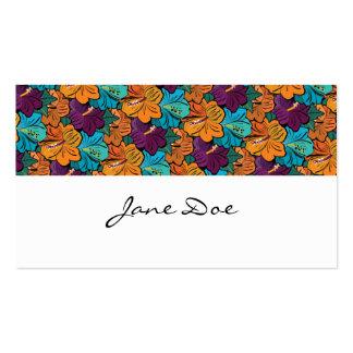Hawaii Hibiscus Flower Business Card Template