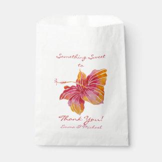 Hawaii Hibiscus Flower Wedding Thank You Favor Bag Favour Bags