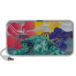 Hawaii Hibiscus Flowers and Turtle Portable Speakers