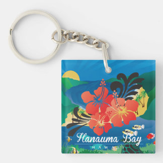 Hawaii Hibiscus Flowers Key Ring