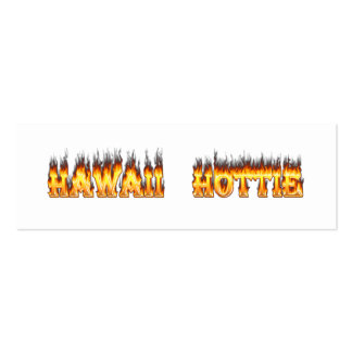 Hawaii Hottie Fire and Flames Double-Sided Mini Business Cards (Pack Of 20)