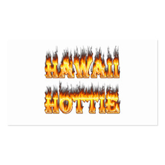 Hawaii Hottie Fire and Flames Double-Sided Standard Business Cards (Pack Of 100)