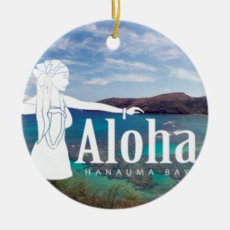 Hawaii Hula Dancer Ceramic Ornament