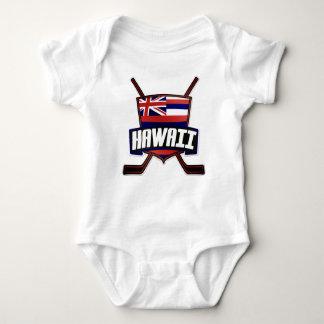 Hawaii Ice Hockey Flag Baby Bodysuit