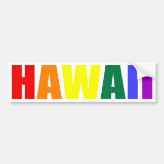 HAWAII in Rainbow Colors Bumper Sticker