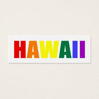 HAWAII in Rainbow Colors Mini Business Card