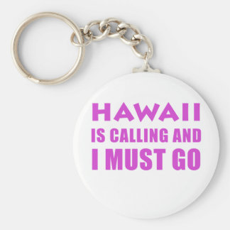 Hawaii Is Calling and I Must Go Key Ring