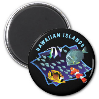 Hawaii Is. Reefers 6 Cm Round Magnet