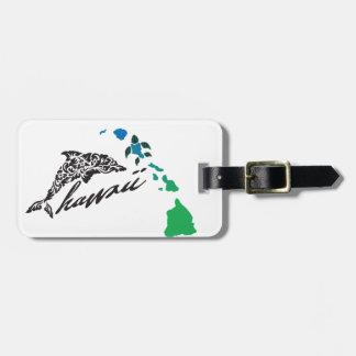 Hawaii islands and Hawaii Dolphin 24 Luggage Tag