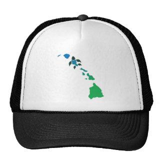 Hawaii Islands and Oahu Turtle Trucker Hat