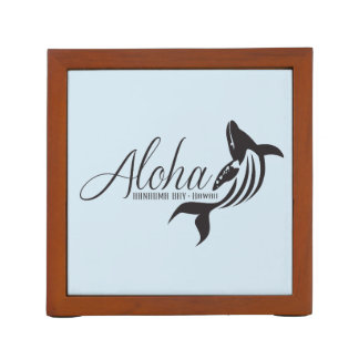 Hawaii Islands and Whales Desk Organiser