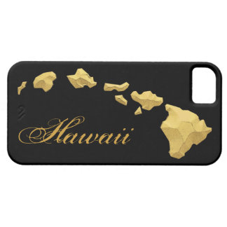 Hawaii islands black gold iphone 5 case
