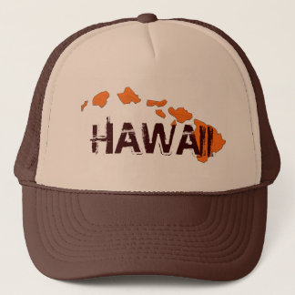 Hawaii islands brown orange hat