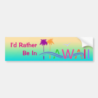 Hawaii Islands Bumper Sticker
