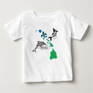 Hawaii Islands Chain - Hawaii Dolphin and Whale Baby T-Shirt