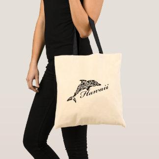 Hawaii Islands Dolphin Tote Bag