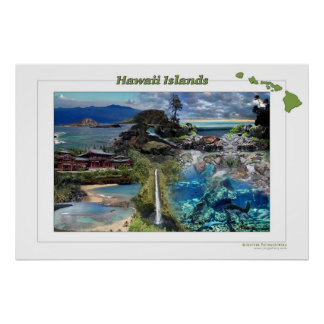 Hawaii Islands Poster
