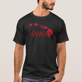 Hawaii islands red black guys tee