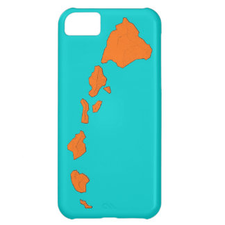 Hawaii islands teal orange iphone 5 case