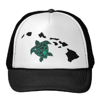 Hawaii Islands - Turtle Trucker Hats