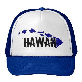 Hawaii islands white blue hat