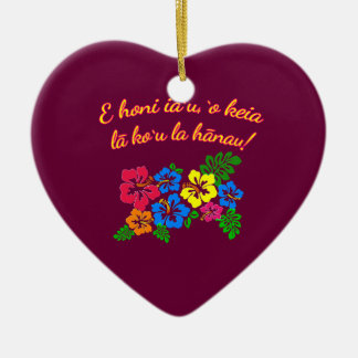 HAWAII Kiss Me It's My Birthday in Hawaiian Ceramic Ornament