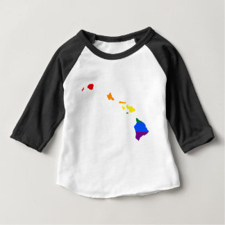 Hawaii LGBT Flag Map Baby T-Shirt