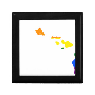 Hawaii LGBT Flag Map Gift Box