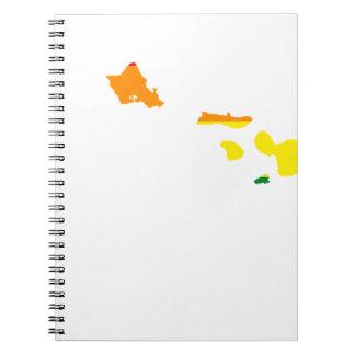 Hawaii LGBT Flag Map Notebook