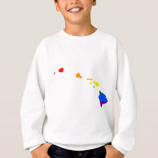Hawaii LGBT Flag Map Sweatshirt