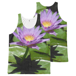 Hawaii Lotus Flower All-Over Print Singlet