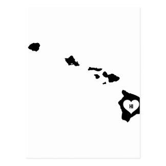 Hawaii Love Postcard