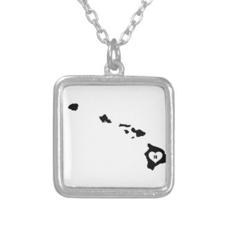 Hawaii Love Silver Plated Necklace