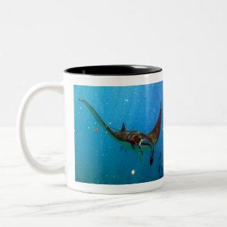 Hawaii Manta Ray Two-Tone Coffee Mug