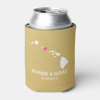 Hawaii Map Wedding with Have Hold Keep Beer Cold Can Cooler