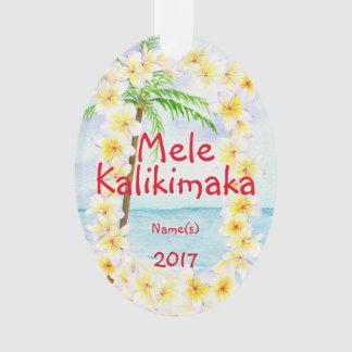 Hawaii Mele Kalikimaka Christmas Ornament