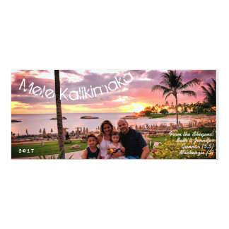 Hawaii Merry Christmas Mele Kalikimaka Card