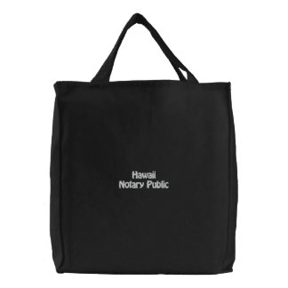 Hawaii Notary Public Embroidered Bag
