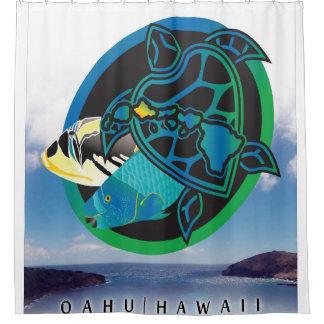 Hawaii Oahu Island Shower Curtain