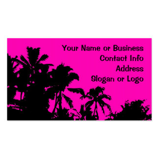 Hawaii palm tree customizable business card