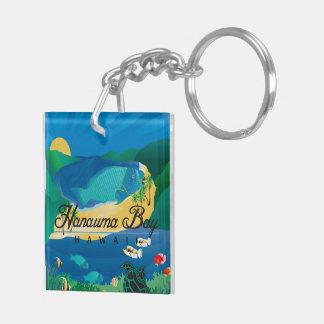 Hawaii Parrot and Trigger Fish - Humuhumunukunukua Key Ring