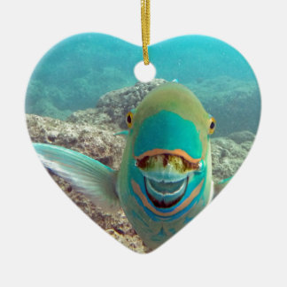 Hawaii Parrot Fish - Uhu Ceramic Ornament