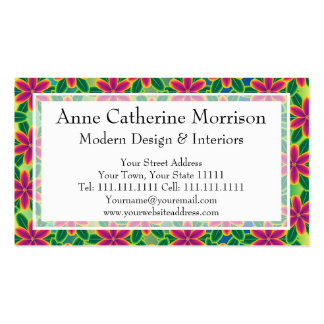Hawaii Passion Hot Pink Tropical Flower Power Business Card Templates