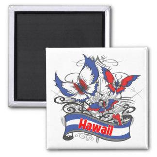 Hawaii Patriotism Butterfly Magnet